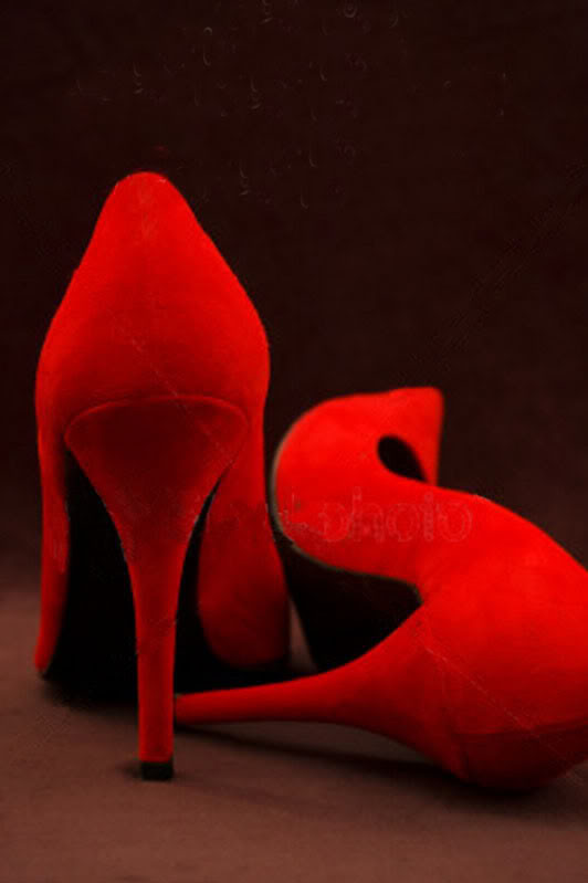 Red shoes by sadie
